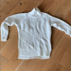 Turtle neck cable knit sweater from banana